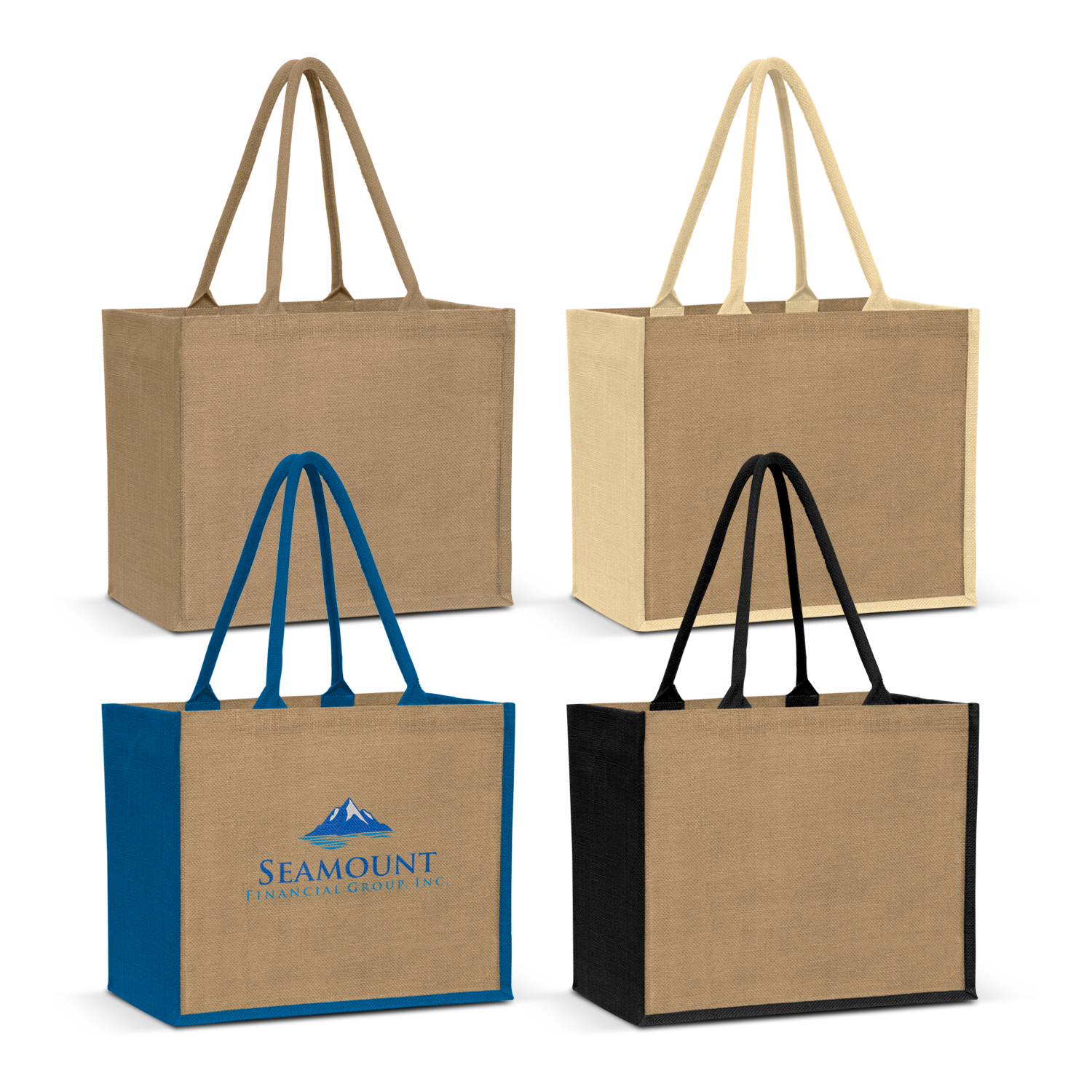 805aaf803 Torino Jute Shopping Bag - Arctic Blue Marketing