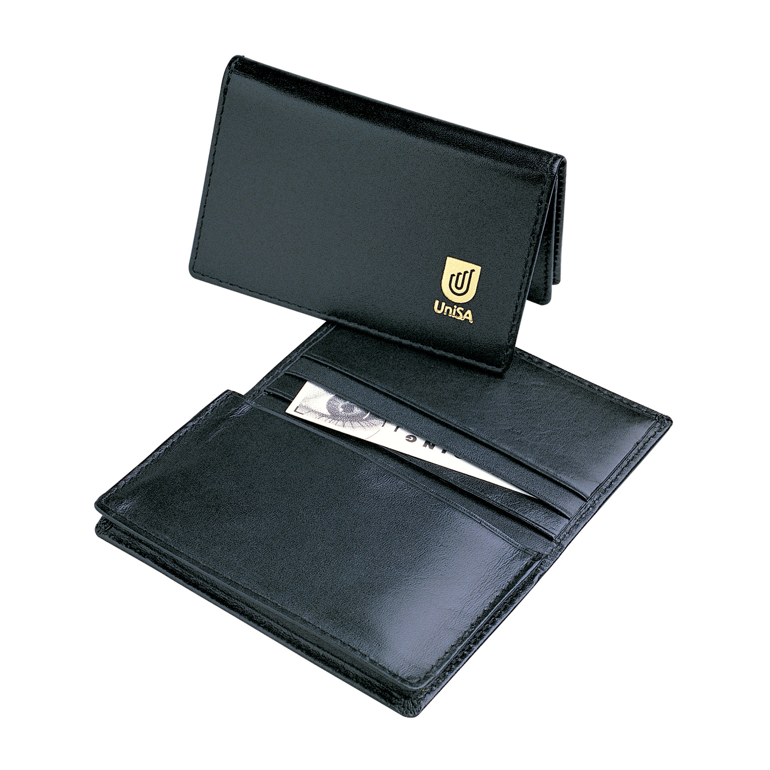 leather pocket business card holder  arctic blue marketing
